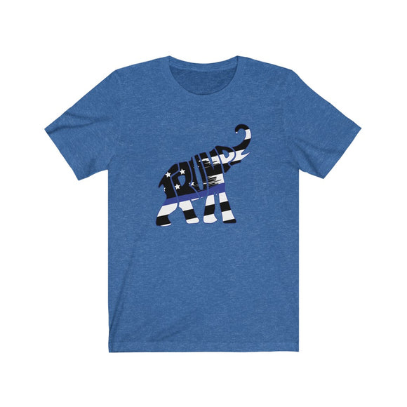 Trump Elephant Thin Blue Line Cotton  Unisex T-shirt