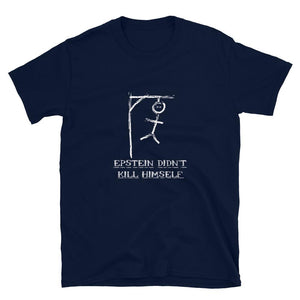 Epstein Didn't Kill Himself Hangman Short-Sleeve Unisex T-Shirt - Flag and Cross