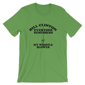 Everyone Remembers My Whistle Blower Short-Sleeve Unisex T-Shirt - Flag and Cross