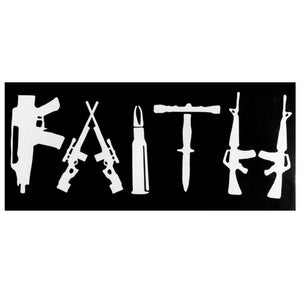 FAITH Bumper Sticker - Flag and Cross