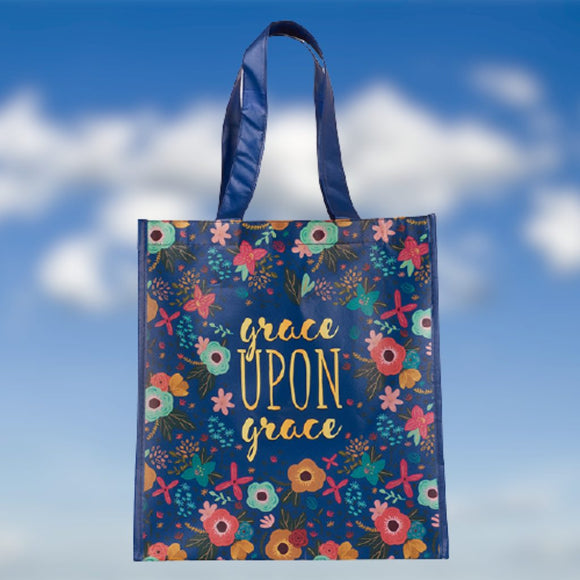 Grace Upon Grace Shopping Tote (English Flower Garden Design)