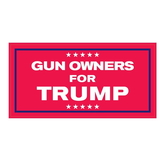 Gun Owners for Trump Weatherproof Sticker - Flag and Cross