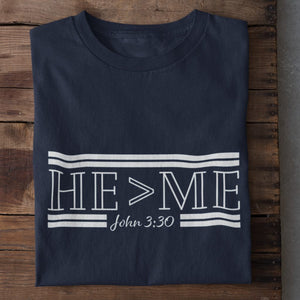 HE is Greater Than Me (John 3:30) Unisex Heavy Cotton T-shirt