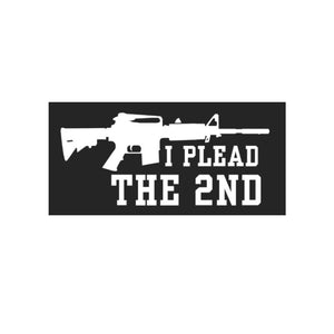 I Plead The 2nd Bumper Sticker - Flag and Cross