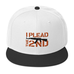 I Plead the 2nd Snapback Hat - Flag and Cross