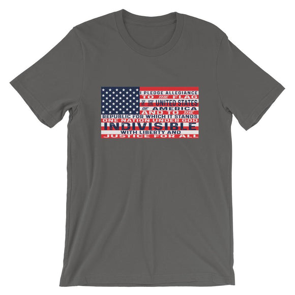 I Pledge Allegiance Short-Sleeve Unisex T-Shirt - Flag and Cross