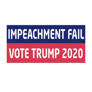 Impeachment Fail - Vote Trump 2020 Weatherproof Sticker - Flag and Cross