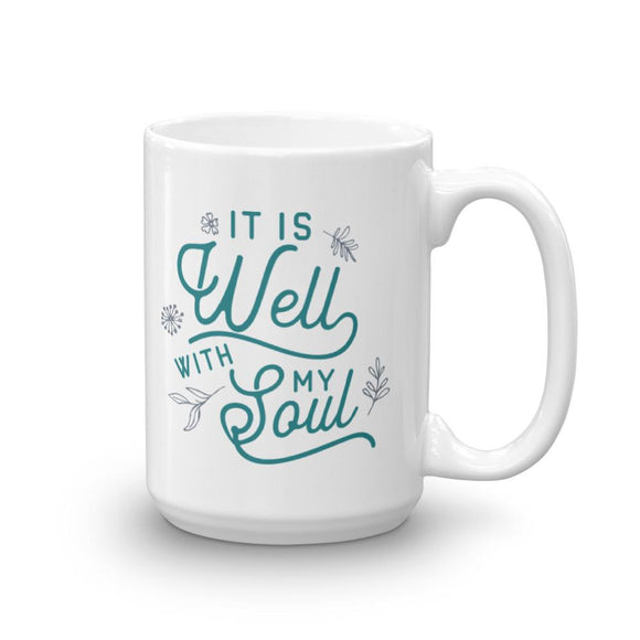 It Is Well With My Soul Mug - Flag and Cross