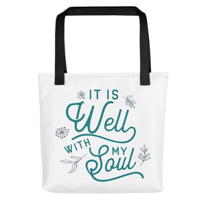 It Is Well With My Soul Tote bag - Flag and Cross