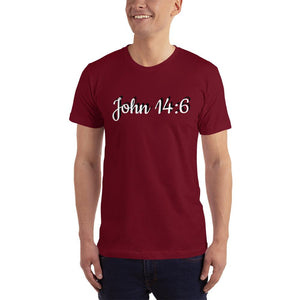 John 14:6 Unisex T-Shirt (Made In The USA) - Flag and Cross