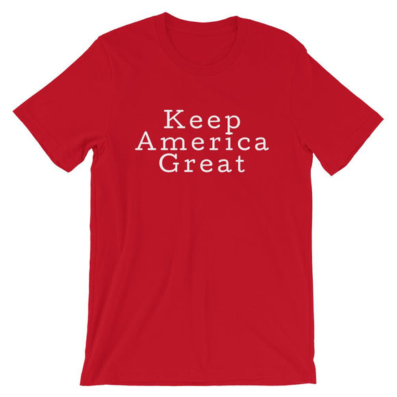 Keep America Great Trump 2020 Short-Sleeve Unisex T-Shirt - Flag and Cross