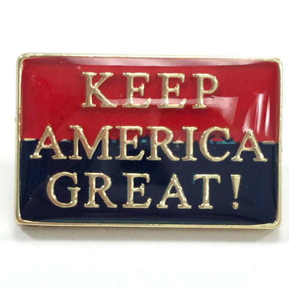 Keep America Great Two-Tone Red and Blue Enamel Pin