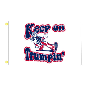 "HOT! ""Keep On Trumpin'"" Flag 3' x 5' (Retro-Style)"