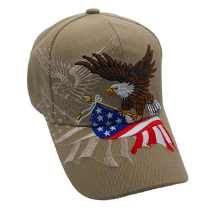 Khaki American Flying Eagle Custom Embroidered Shadow Hat