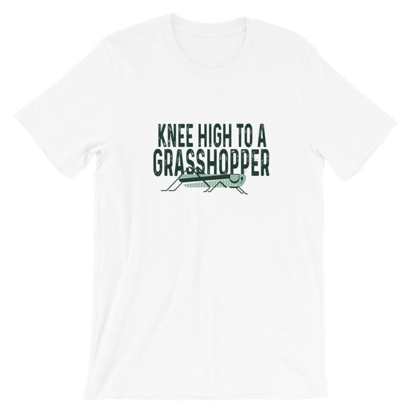Knee High To A Grasshopper Short-Sleeve Unisex T-Shirt - Flag and Cross