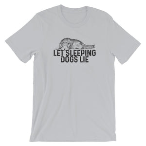 Let Sleeping Dogs Lie Short-Sleeve Unisex T-Shirt - Flag and Cross