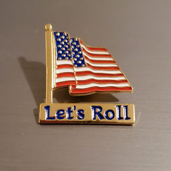 Let's Roll Lapel Pin (Gold Plated)