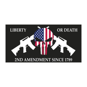 Liberty or death 2nd Amendment Since 1789 Sticker - Flag and Cross