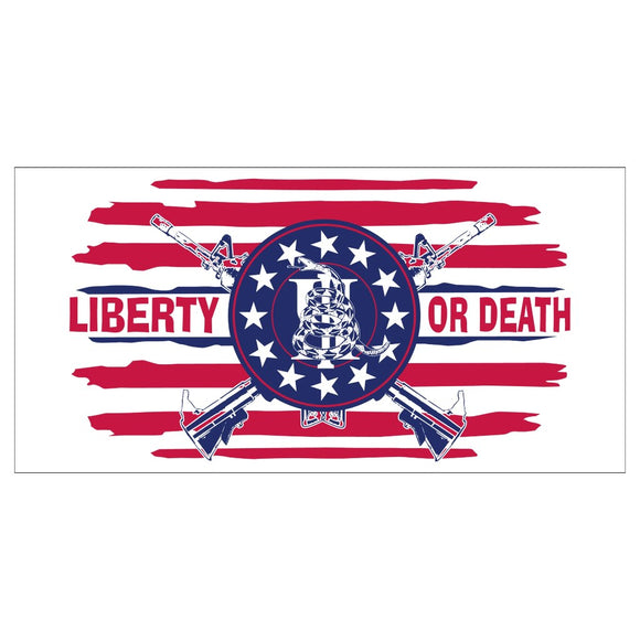 Liberty or Death III Percenter Gadsden Snake Sticker