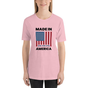 Made In America Short-Sleeve Unisex T-Shirt - Flag and Cross