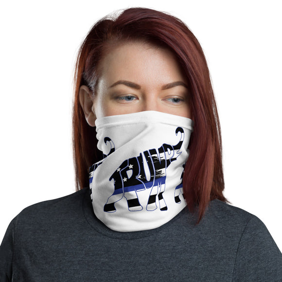 Trump Elephant Thin Blue Line Face-Neck Gaiter