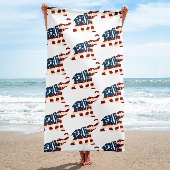 Trump Patriotic Elephant Towel