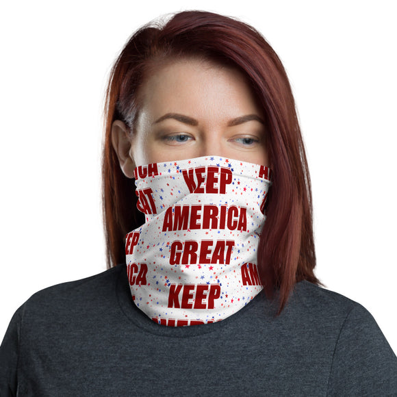 Keep America Great Patriotic Stars Face and Neck Gaiter