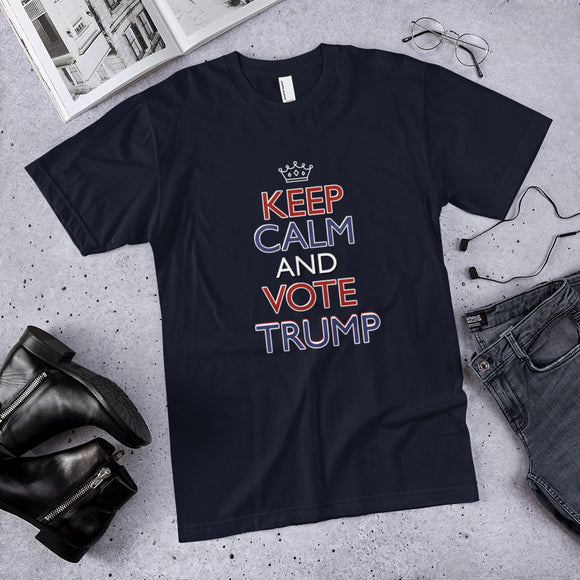 Keep Calm and Vote Trump Cotton Unisex T-Shirt
