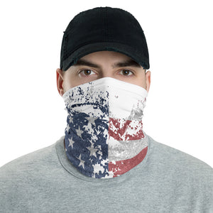Distressed Patriotic Face and Neck Gaiter