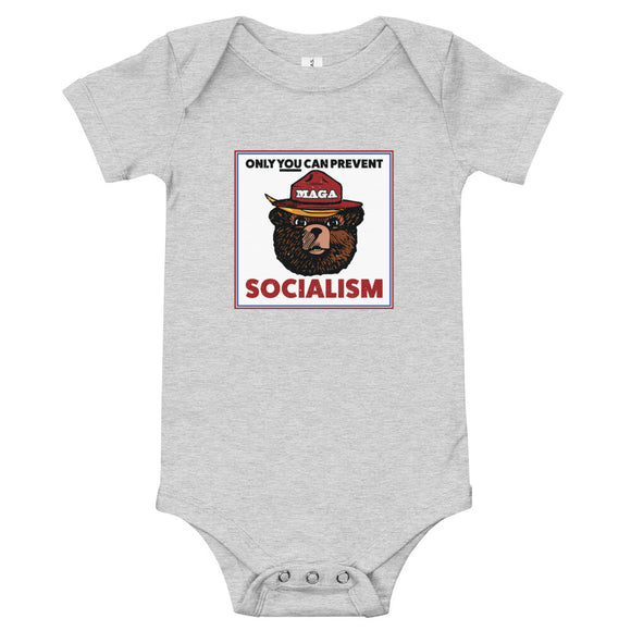 MAGA Bear: Only You Can Prevent Socialism Baby Onesie
