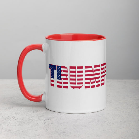 Trump Patriotic Mug with Color Inside