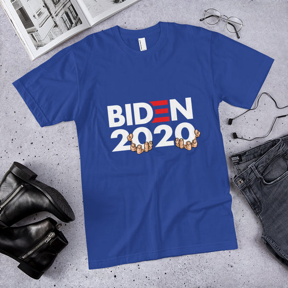 Biden 2020 Hands On Parody Cotton Unisex T-Shirt