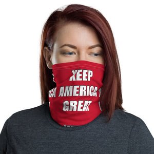 Keep America Great (Red) Face and Neck Gaiter
