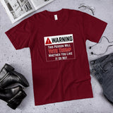 Warning: This Person Will Vote Trump Whether You Like It Or Not Cotton Unisex T-Shirt