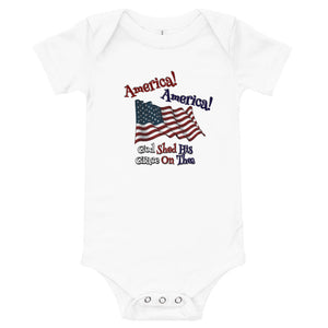 America! America! God Shed His Grace on Thee Baby Onesie