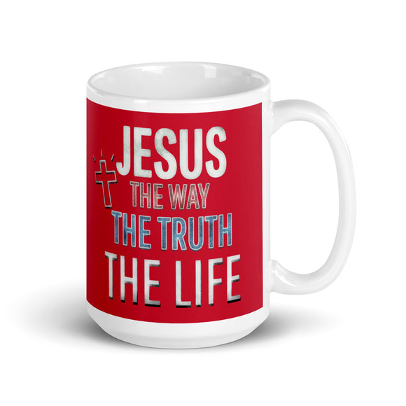 Jesus The Way The Truth The Life 15oz Ceramic Mug