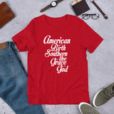 American By Birth. Southern By The Grace Of God Short-Sleeve Unisex T-Shirt