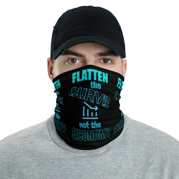 Flatten the Curve not the Economy Face and Neck Gaiter