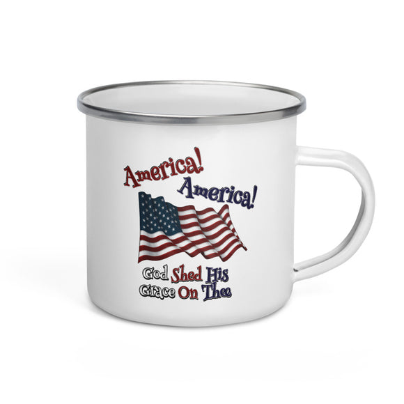 America! America! God Shed His Grace On Thee Enamel Mug