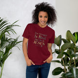 The Struggle is Real But So Is Jesus Romans 8:18 Cotton Unisex T-Shirt