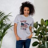 America! America! God Shed His Grace on Thee Cotton Unisex T-Shirt