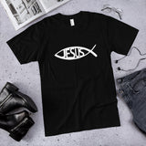 Jesus Ichthys Fish Cotton T-Shirt (Made in the USA)