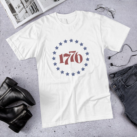Retro Patriotic 1776 Cotton T-Shirt