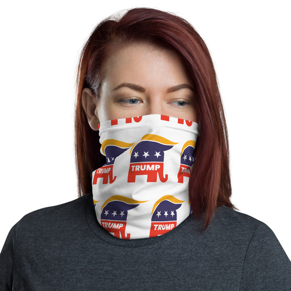 Trump Republican Elephant Face and Neck Gaiter
