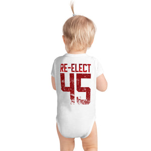 Trump Re-Elect 45 Two-Sided Design Baby Onesie