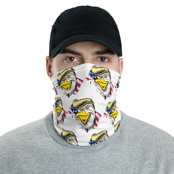 Trumpy Patriotic Eagle Face and Neck Gaiter