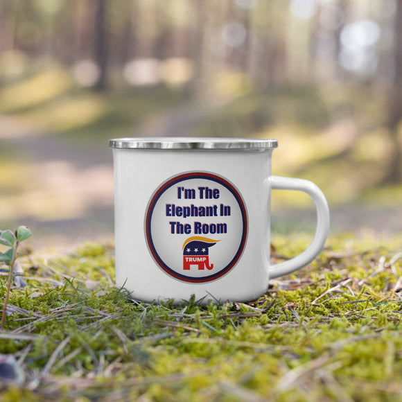 I'm The Elephant in the Room (Trump) Enamel Mug
