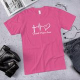 Faith Hope and Love Cotton Unisex T-Shirt (Made in the USA)