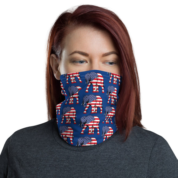 GOP Patriotic Elephant Face and Neck Gaiter