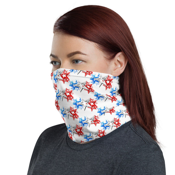 Red White and Blue Stars Face and Neck Gaiter
